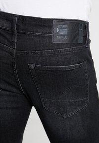 G-Star - 3301 SLIM 1/2 - Jeansshorts - elto black superstretch - medium aged grey - 4