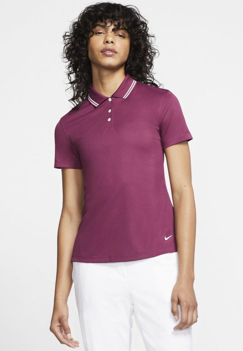 Nike Golf - DRY VICTORY - Sports shirt - villain red/white