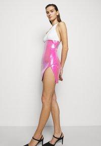 David Koma - Shift dress - white/pink - 4