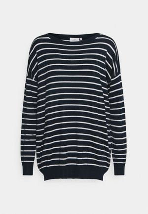 KAMALA LONG SLEEVE - Strickpullover - midnight marine
