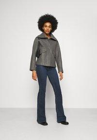 JDY - JDYTEA SHORT JACKET - Light jacket - dark grey melange - 1