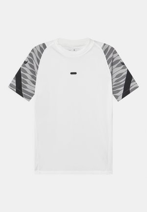 UNISEX - Print T-shirt - white/black