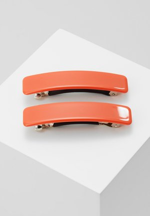 EVELYN BARETTESET 2 PACK - Hair styling accessory - orange