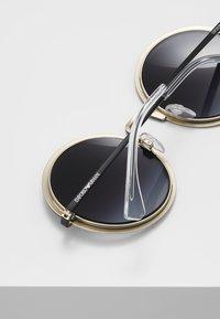 Emporio Armani - Sluneční brýle - matte black/matte pale gold-coloured - 4