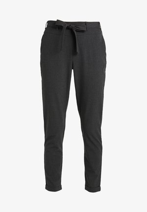 JILLIAN BELT PANT - Bukser - dark grey melange