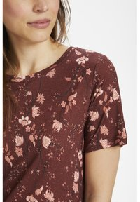 InWear - Basic T-shirt - russet brown asian floral - 3
