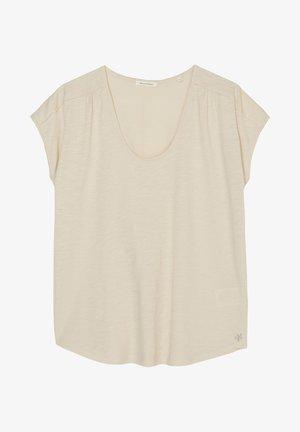 SHORT-SLEEVE DEEP ROUND-NECK - Basic T-shirt - summer taupe