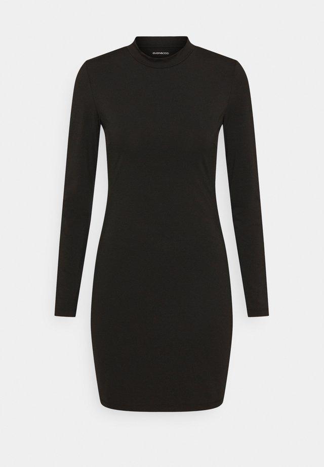 Mini high neck long sleeves bodycon dress - Etuikleid - black