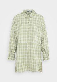 OVERSIZED DIP BACK DRESS - Shirt dress - sage