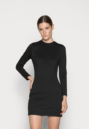 MILANO SIDE LOGO TAPE DRESS - Jersey dress - black