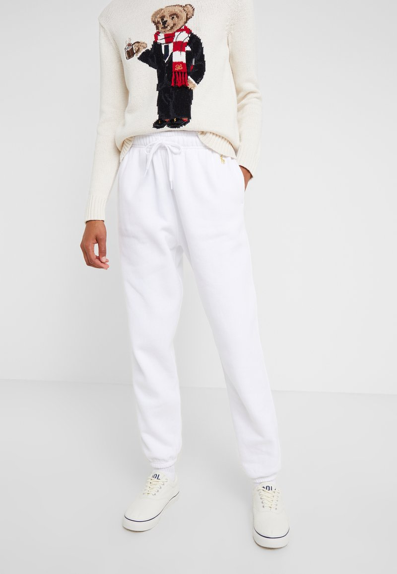 Polo Ralph Lauren - SEASONAL  - Tracksuit bottoms - white