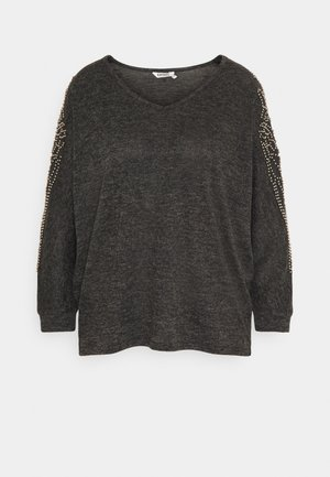 ALANI - Jumper - mottled dark grey