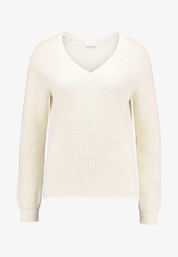 VIMYNTANI POINTELLE V-NECK - Pullover - pristine