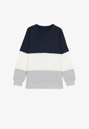 Sweatshirt - blu/latte/grigio