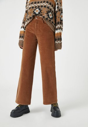 Broek - mottled brown