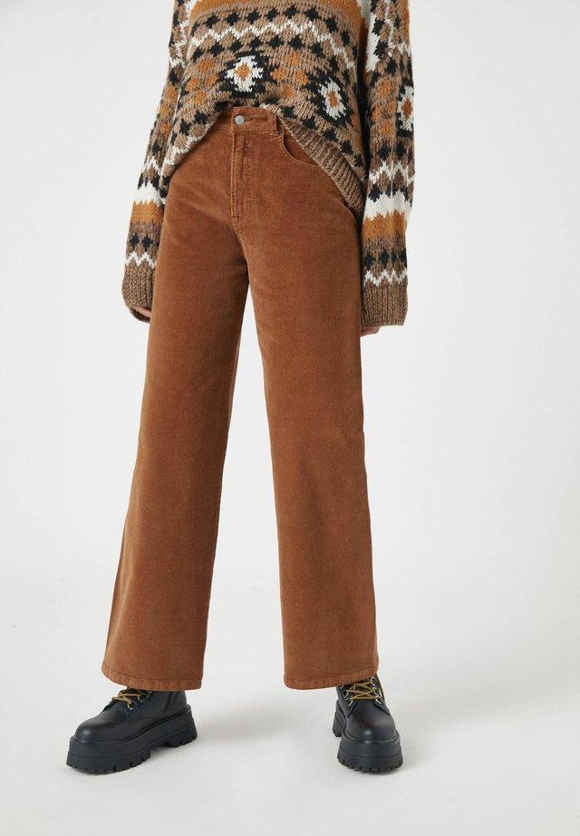 Spodnie materiałowe - mottled brown