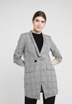 CHRISTINA - Short coat - black/white