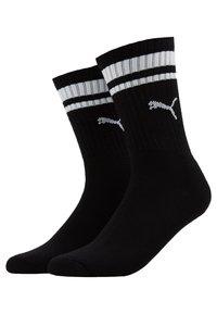 Puma - CREW HERITAGE STRIPE  2 PACK - Socks - black - 0