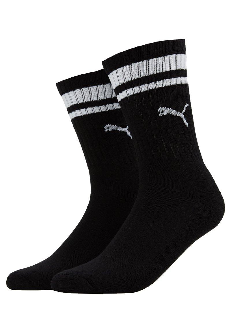 Puma - CREW HERITAGE STRIPE  2 PACK - Socks - black