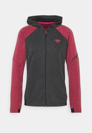 ZIP HOODY  - Zip-up sweatshirt - beet red