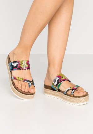 CASE - T-bar sandals - bright multicolor