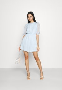 Missguided - PUFF SLEEVE SKATER DRESS - Day dress - baby blue - 1
