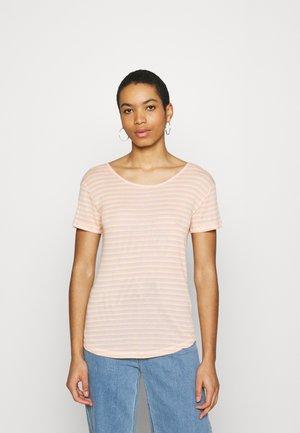 LUCIANNA - Print T-shirt - butter/peach/pink