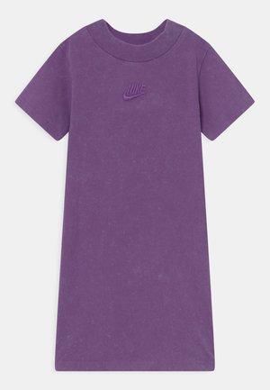 WASHED MOCKNECK DRESS - Jersey dress - purple