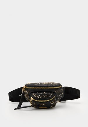 BELT BAG MINI POCKETSPAISLEY STUDS - Ledvinka - nero