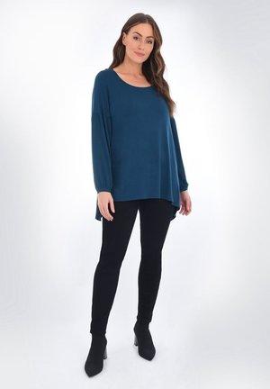 HANKY HEM - Long sleeved top - blue grey