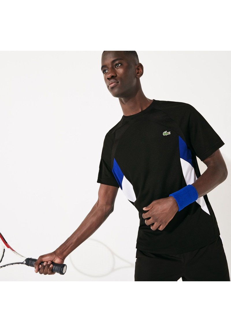 Lacoste Sport - TH4827 - Print T-shirt - noir / bleu / blanc / blanc