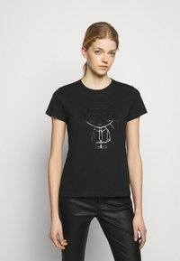 KARL LAGERFELD - IKONIK OUTLINE  - T-Shirt print - black - 0