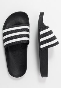 adidas Originals - ADILETTE - Mules - core black/footwear white - 0