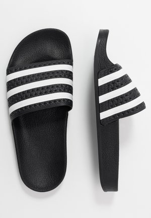 ADILETTE - Matalakantaiset pistokkaat - core black/footwear white