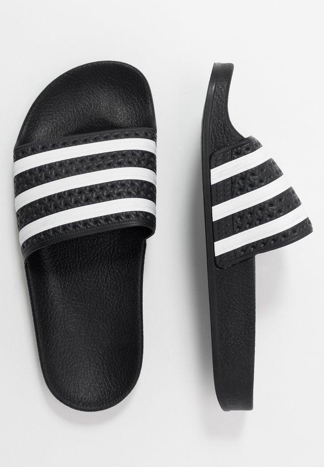 ADILETTE - Muiltjes - core black/footwear white