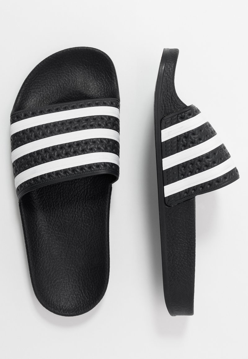 adidas Originals - ADILETTE - Pantofle - core black/footwear white