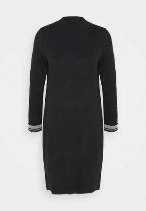 REVERISBLE DRESS - Pletené šaty - black