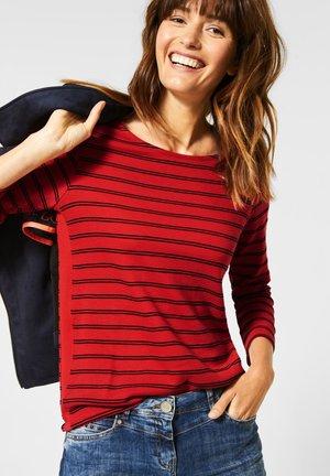 MIT STREIFEN - Long sleeved top - red