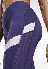 Reebok - MESH WORKOUT READY REECYCLED LEGGINGS - Leggings - purple - 4