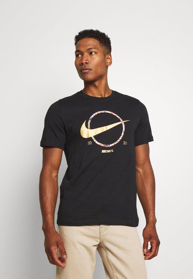 PREHEAT - Camiseta estampada - black