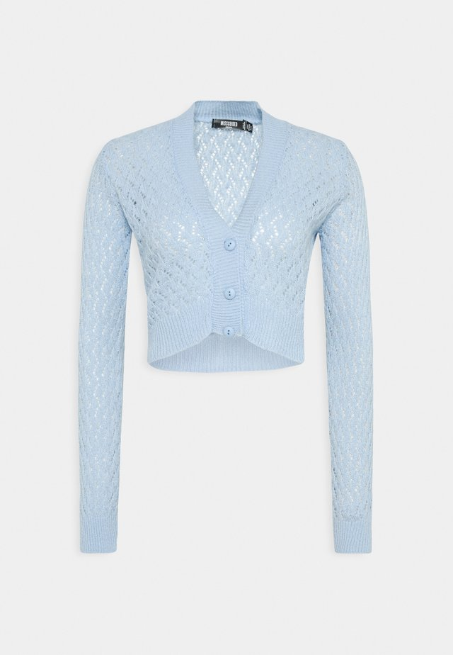 FEATHER POINTELLE CARDI - Jumper - light blue