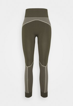 EVOSTRIPE EVOKNIT - Tights - forest night