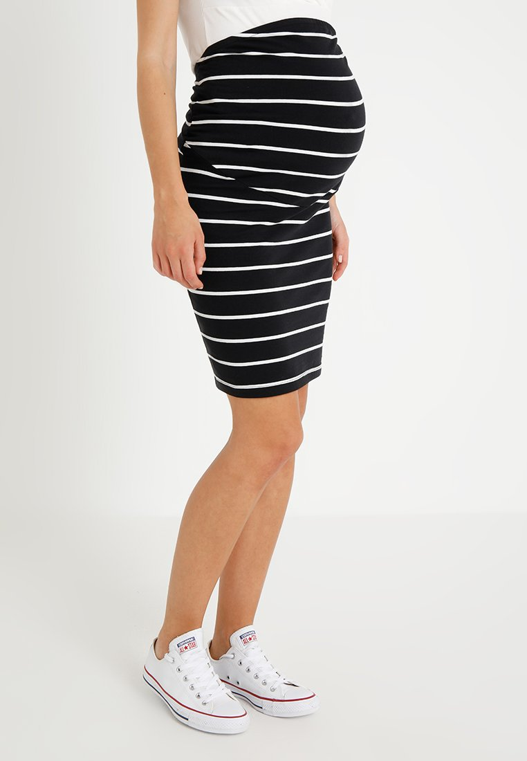 Zalando Essentials Maternity - Pencil skirt - black/off white