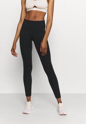 ALL DAY ROUCHE HEM 7/8 LEGGINGS - Leggings - black