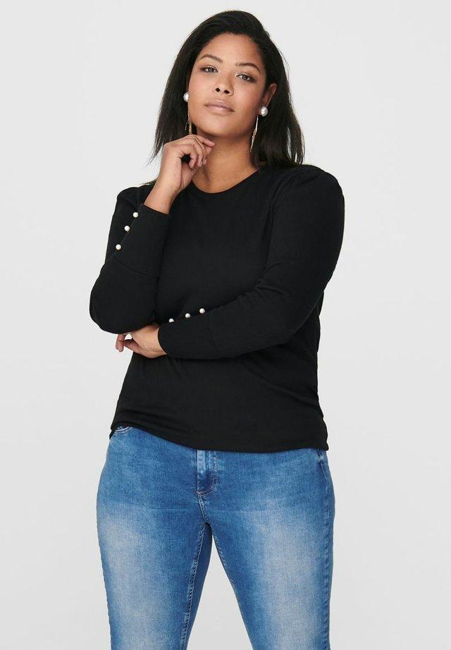 CURVY - T-shirt à manches longues - black