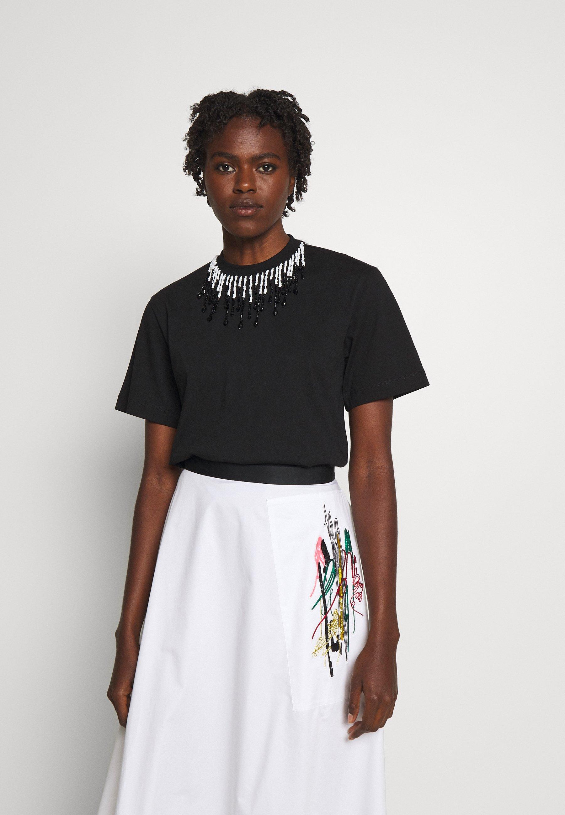 Women BEADED - Print T-shirt
