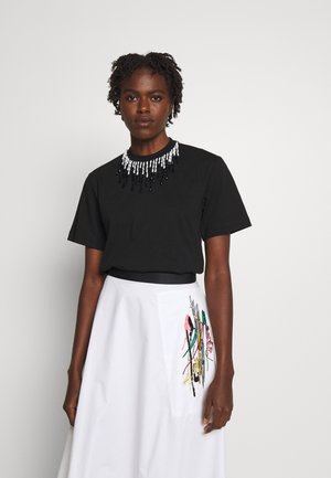 BEADED - T-shirt print - black