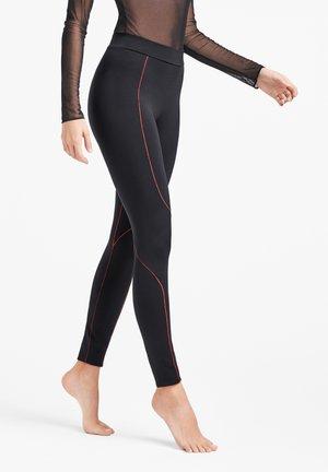 LIANA  - Leggings - Trousers - black/red rust