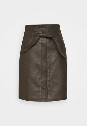 YASRURA SKIRT  - A-Linien-Rock - black olive