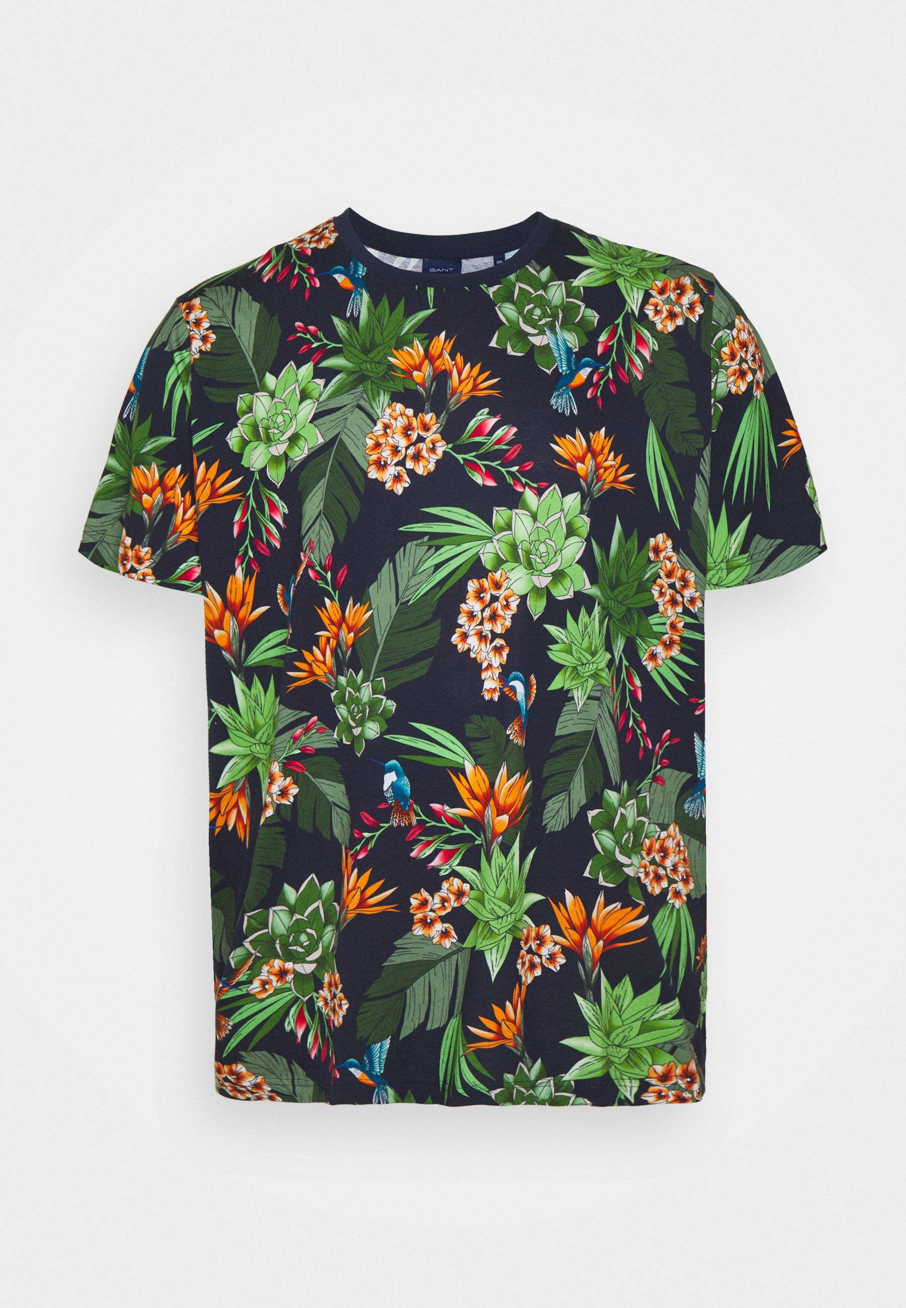 Men PLUS HUMMING GARDEN - Print T-shirt